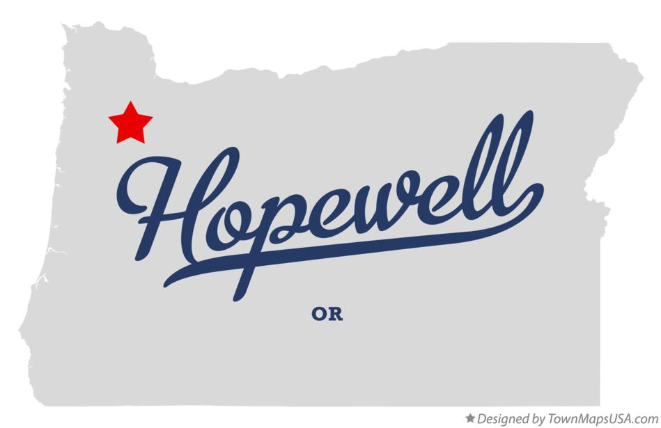 Map of Hopewell Oregon OR
