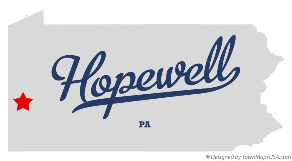 Map of Hopewell Pennsylvania PA