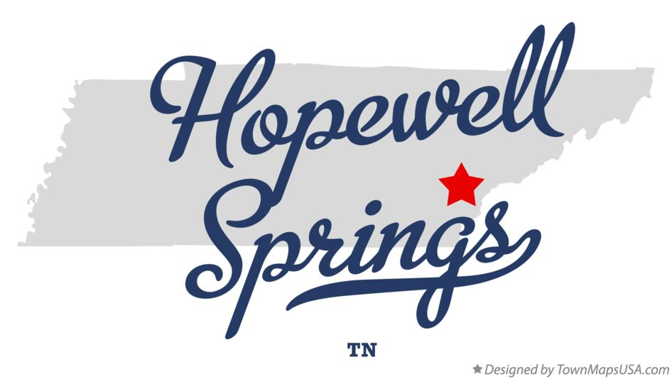 Map of Hopewell Springs Tennessee TN