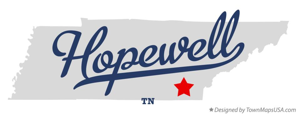 Map of Hopewell Tennessee TN