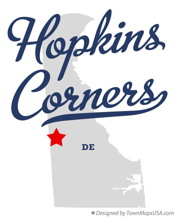Map of Hopkins Corners Delaware DE