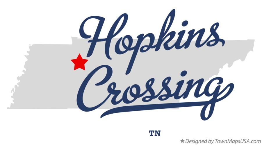 Map of Hopkins Crossing Tennessee TN