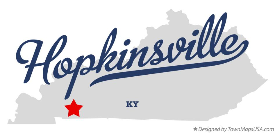Map of Hopkinsville Kentucky KY
