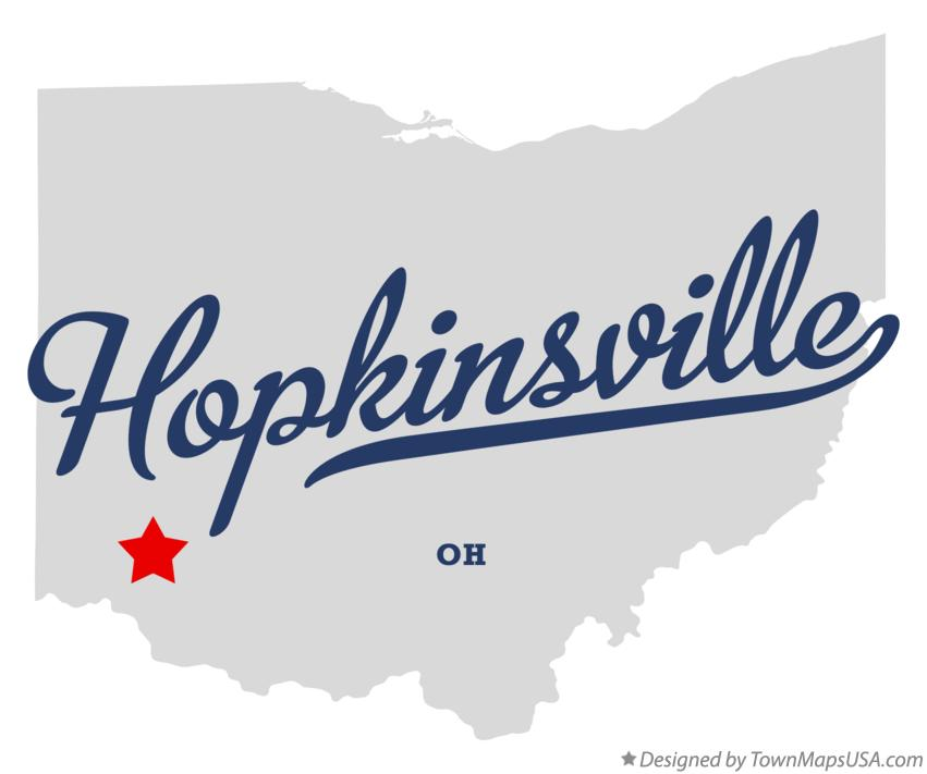 Map of Hopkinsville Ohio OH