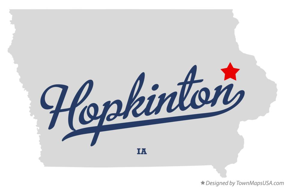 Map of Hopkinton Iowa IA
