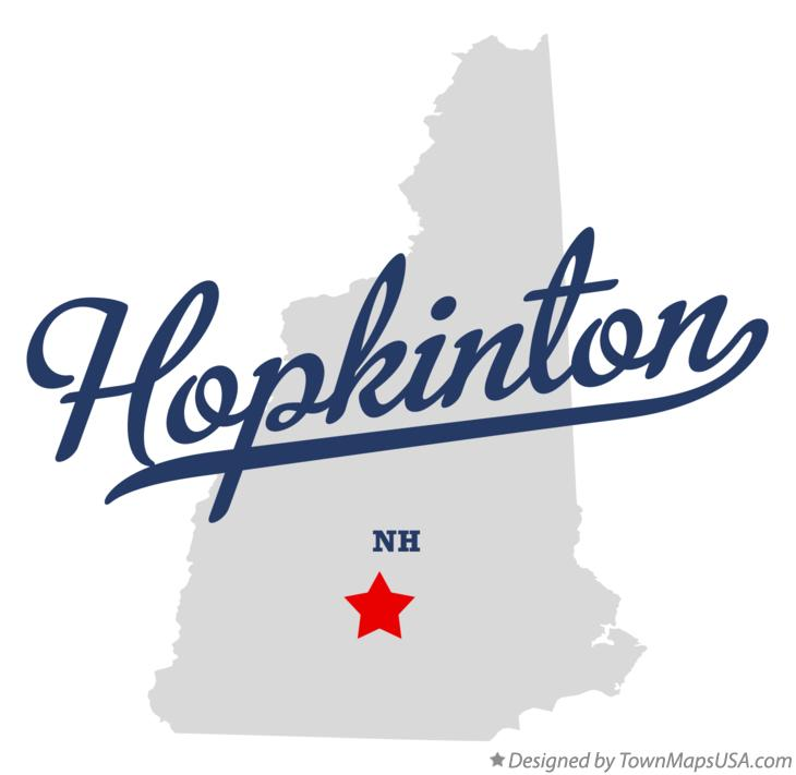 Map of Hopkinton New Hampshire NH