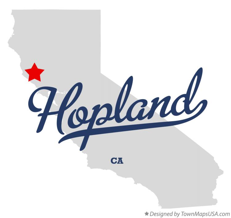 Map of Hopland California CA