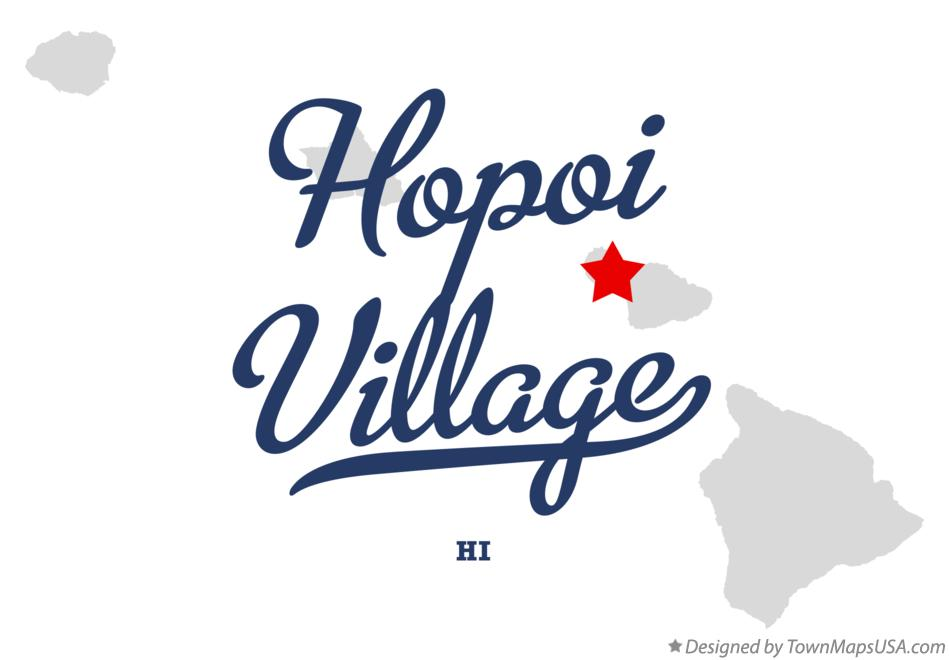 Map of Hopoi Village Hawaii HI