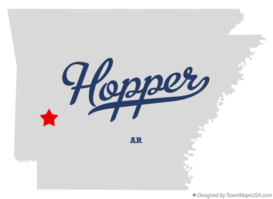 Map of Hopper Arkansas AR