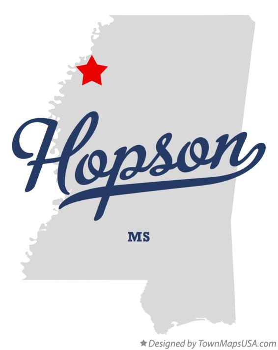 Map of Hopson Mississippi MS