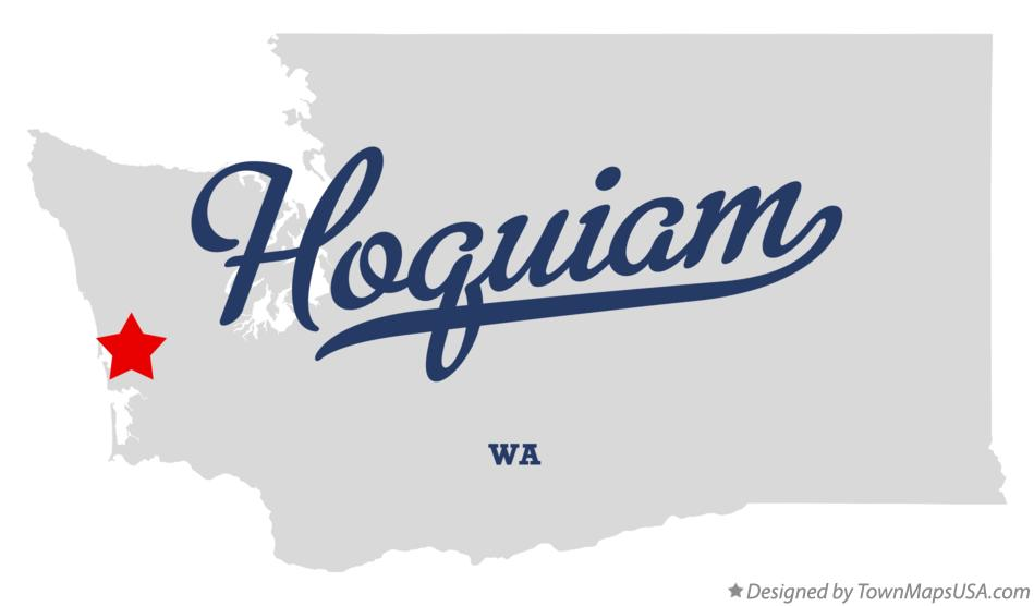 Map of Hoquiam Washington WA