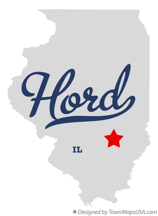 Map of Hord Illinois IL