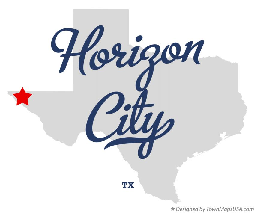 Map of Horizon City Texas TX