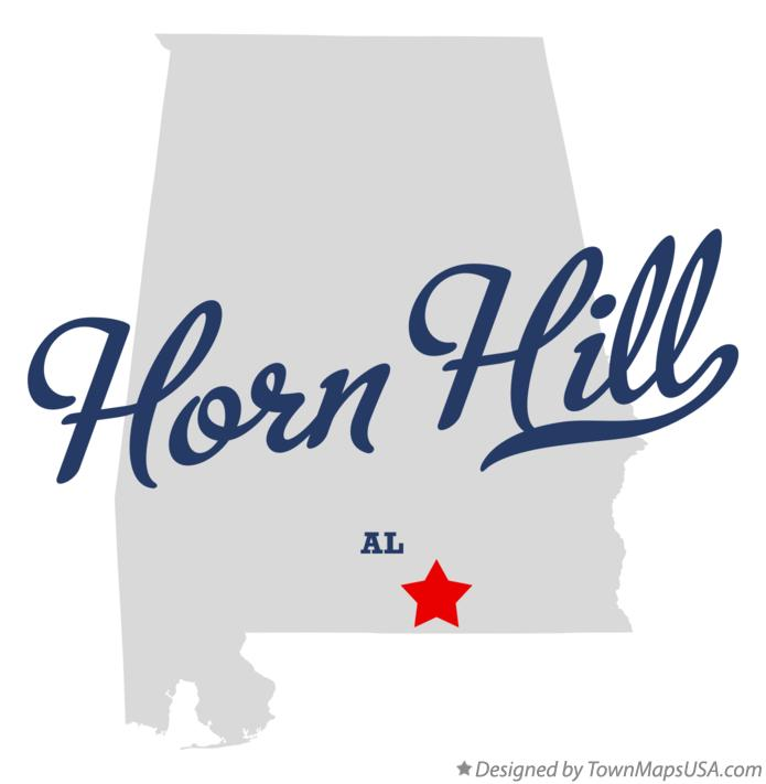 Map of Horn Hill Alabama AL
