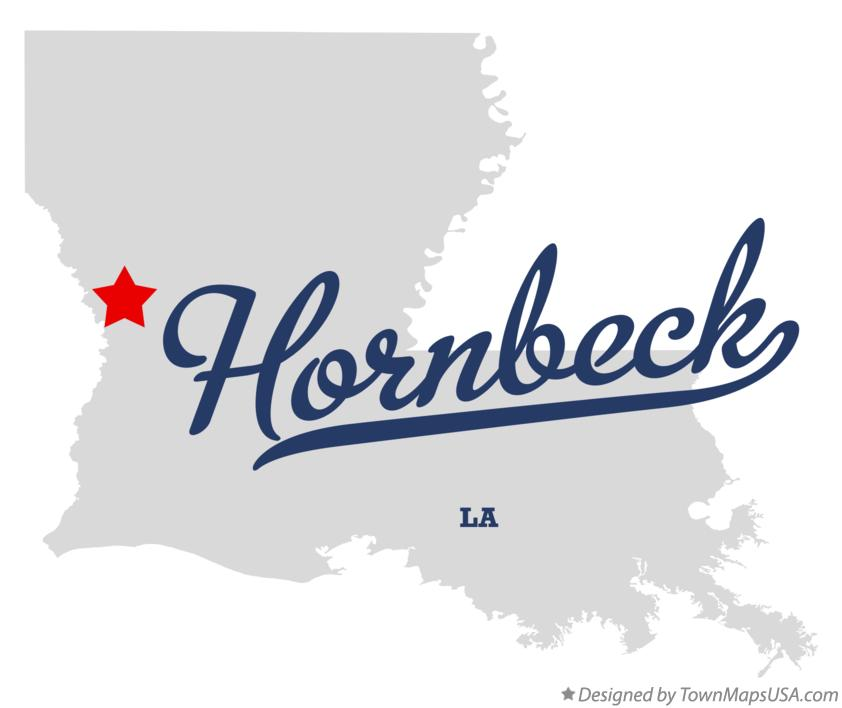 Map of Hornbeck Louisiana LA