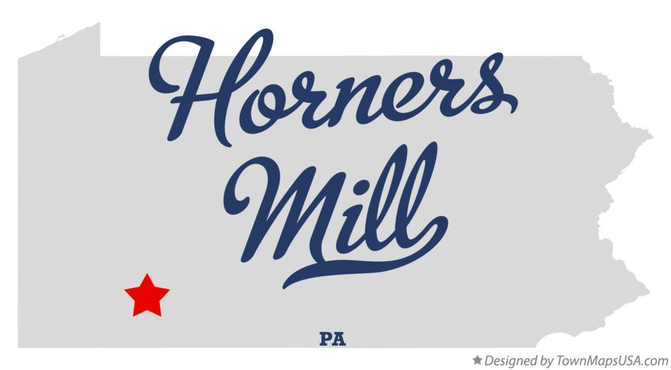 Map of Horners Mill Pennsylvania PA