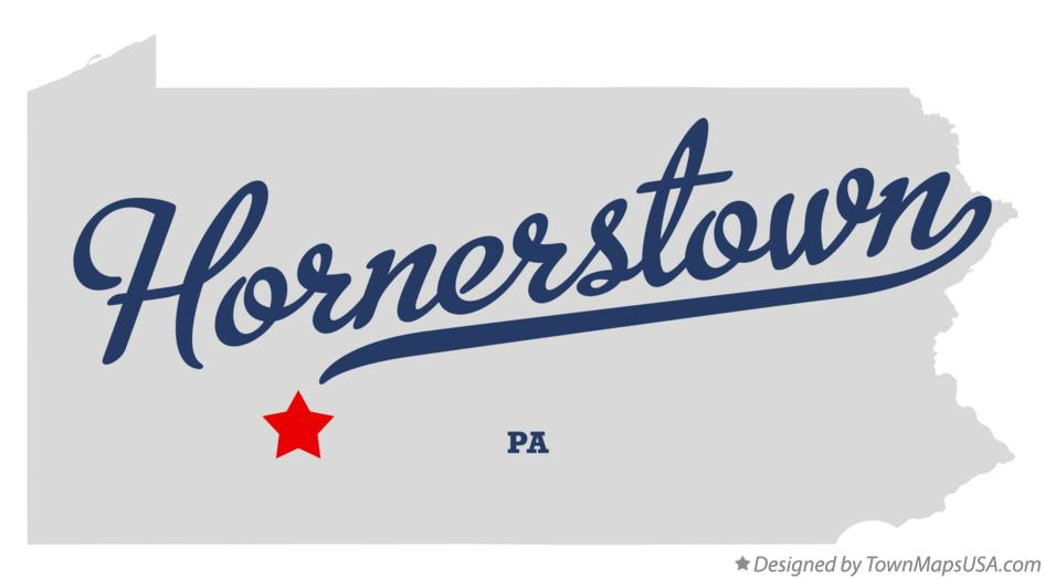Map of Hornerstown Pennsylvania PA