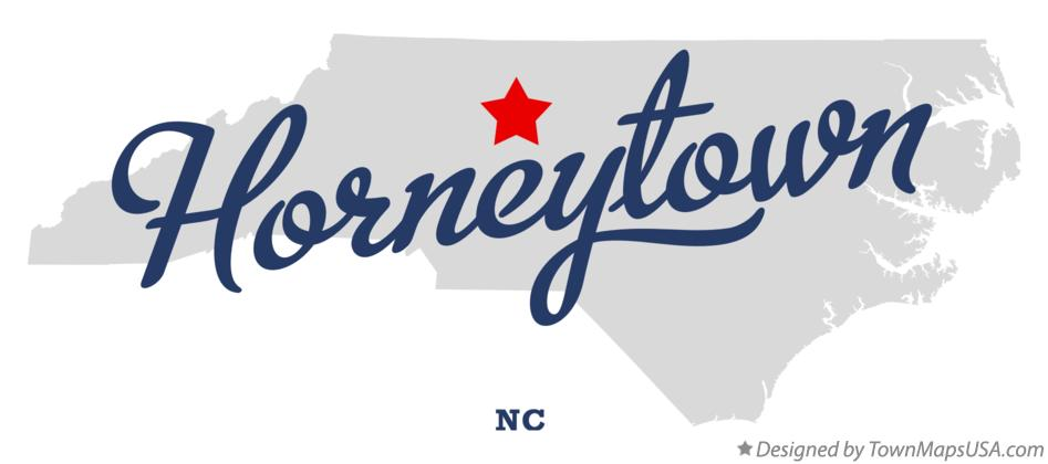Map of Horneytown North Carolina NC