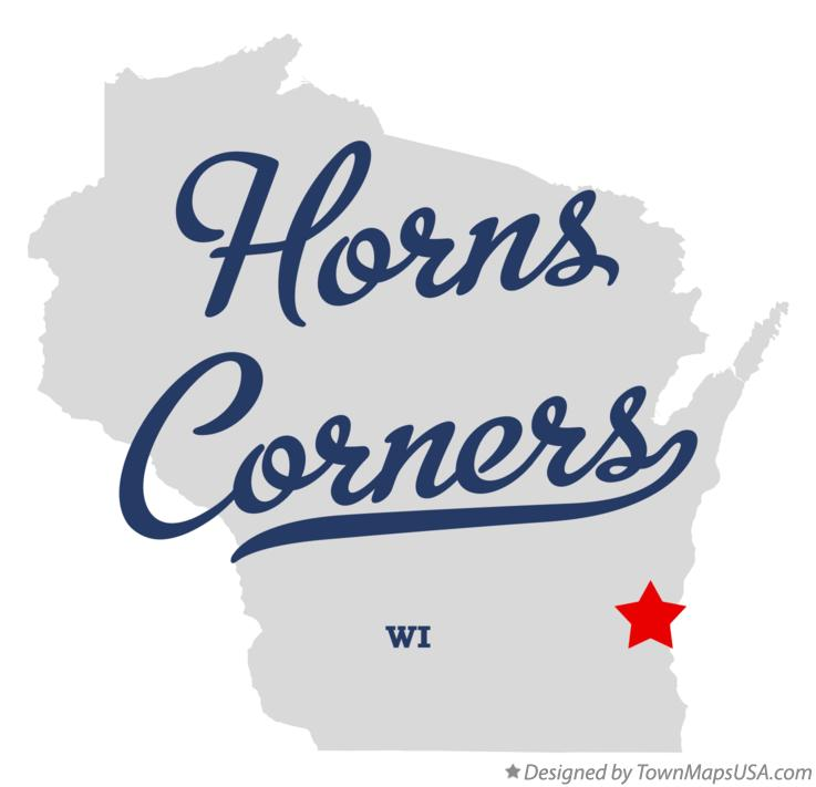 Map of Horns Corners Wisconsin WI