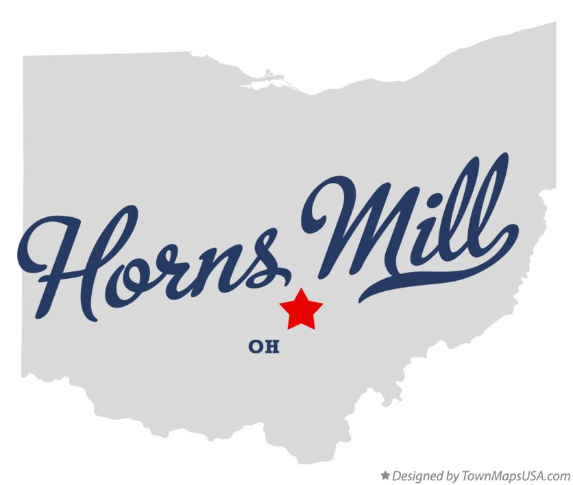 Map of Horns Mill Ohio OH