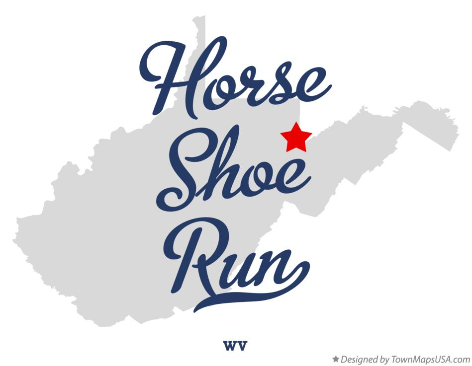 Map of Horse Shoe Run West Virginia WV
