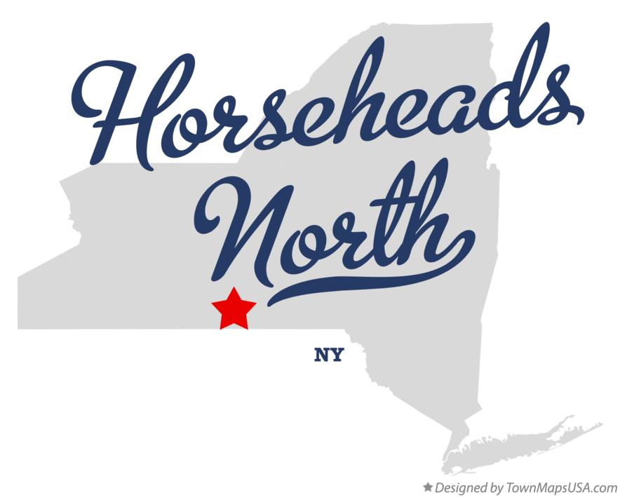Map of Horseheads North New York NY