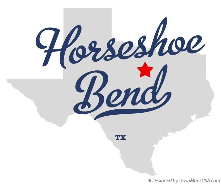 Map of Horseshoe Bend Texas TX