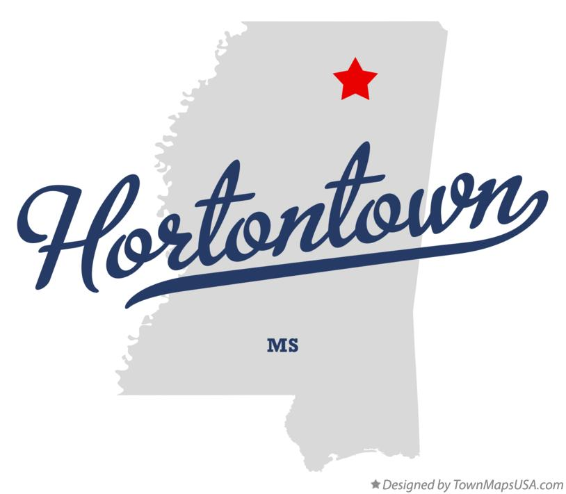 Map of Hortontown Mississippi MS
