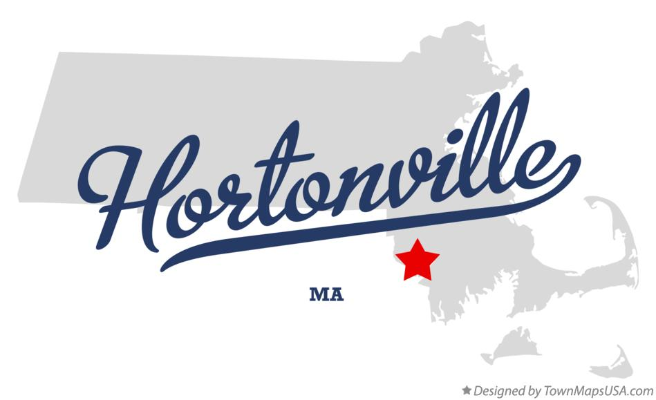 Map of Hortonville Massachusetts MA