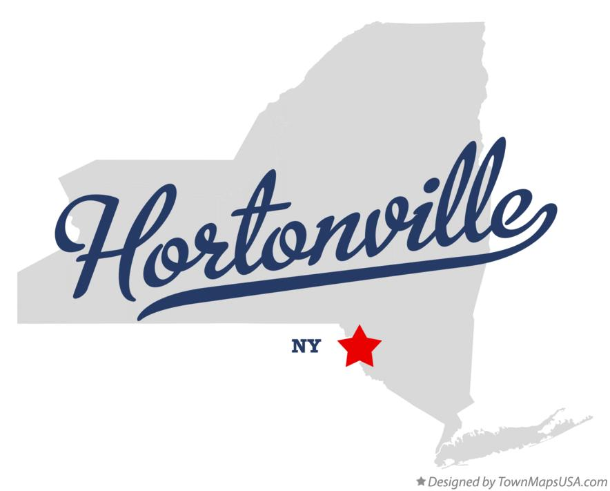 Map of Hortonville New York NY