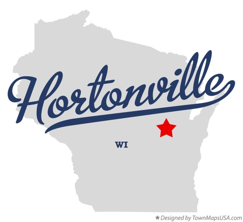 Map of Hortonville Wisconsin WI