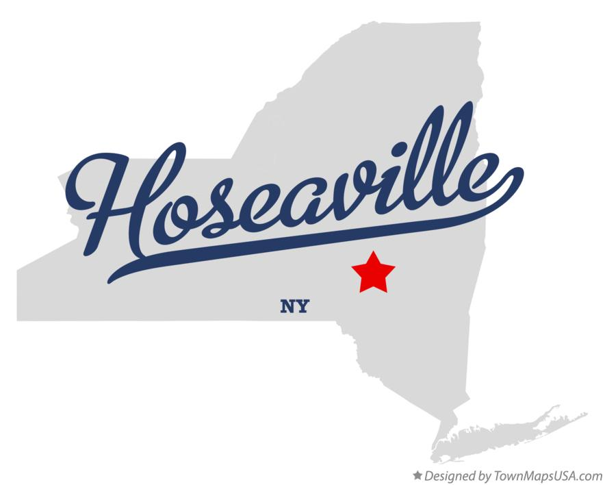 Map of Hoseaville New York NY