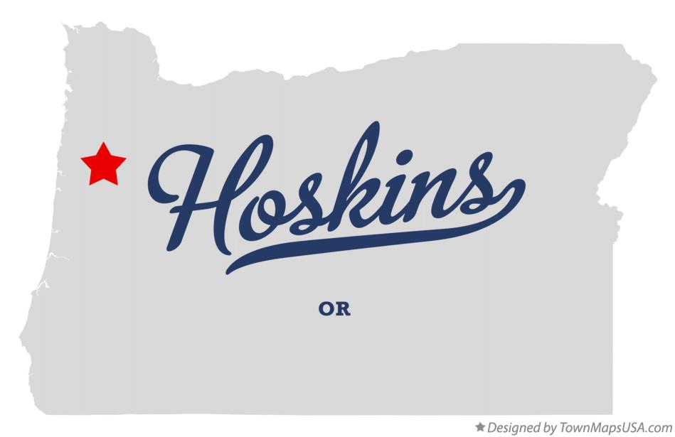 Map of Hoskins Oregon OR