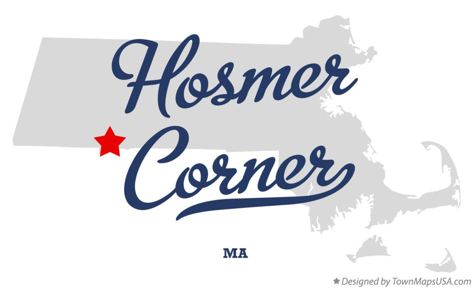 Map of Hosmer Corner Massachusetts MA