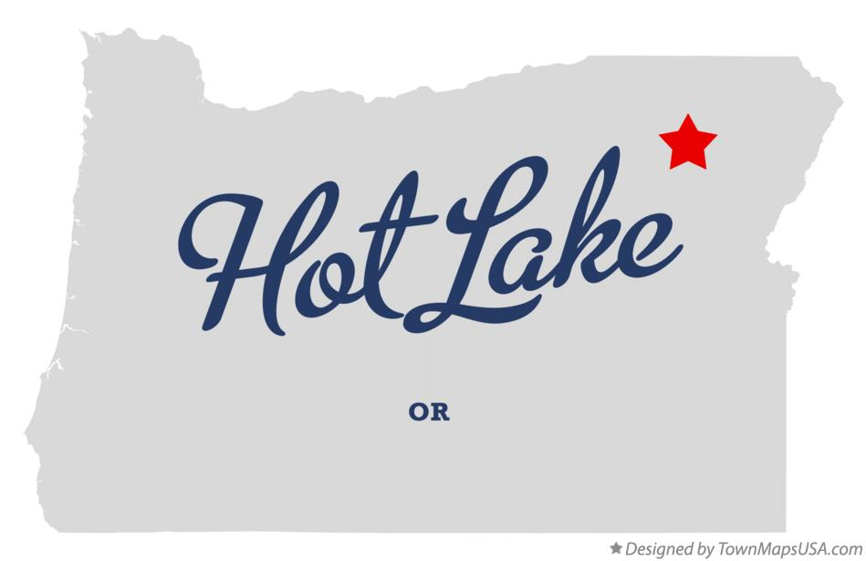 Map of Hot Lake Oregon OR