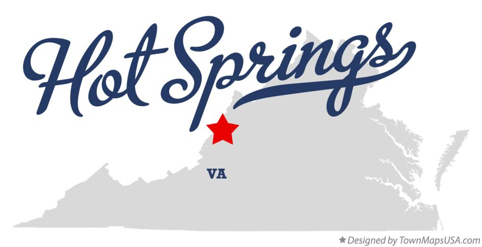 Map of Hot Springs Virginia VA