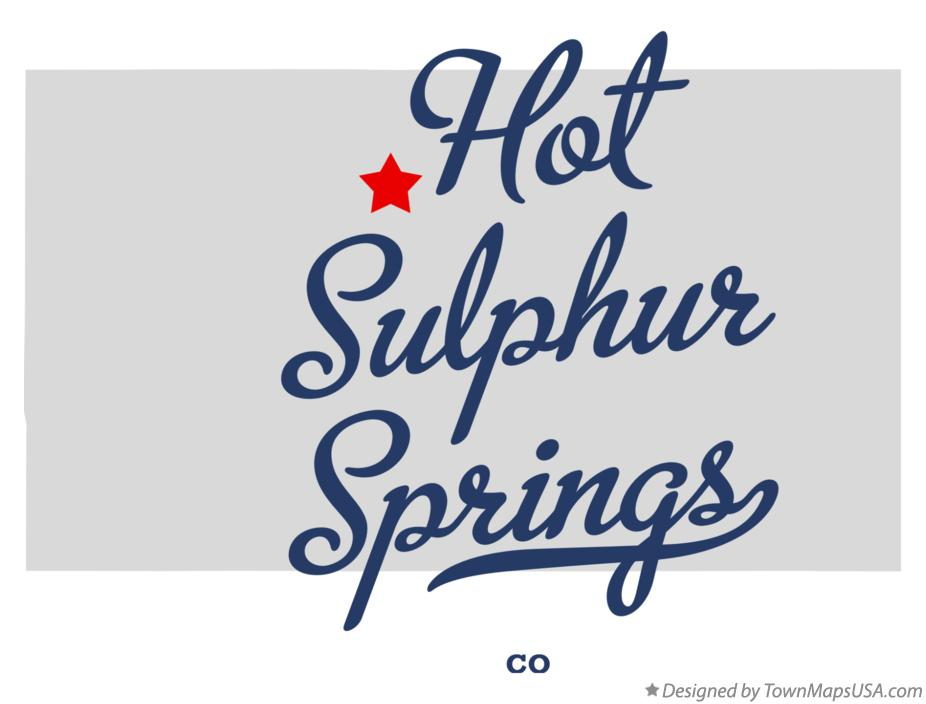 Map of Hot Sulphur Springs Colorado CO