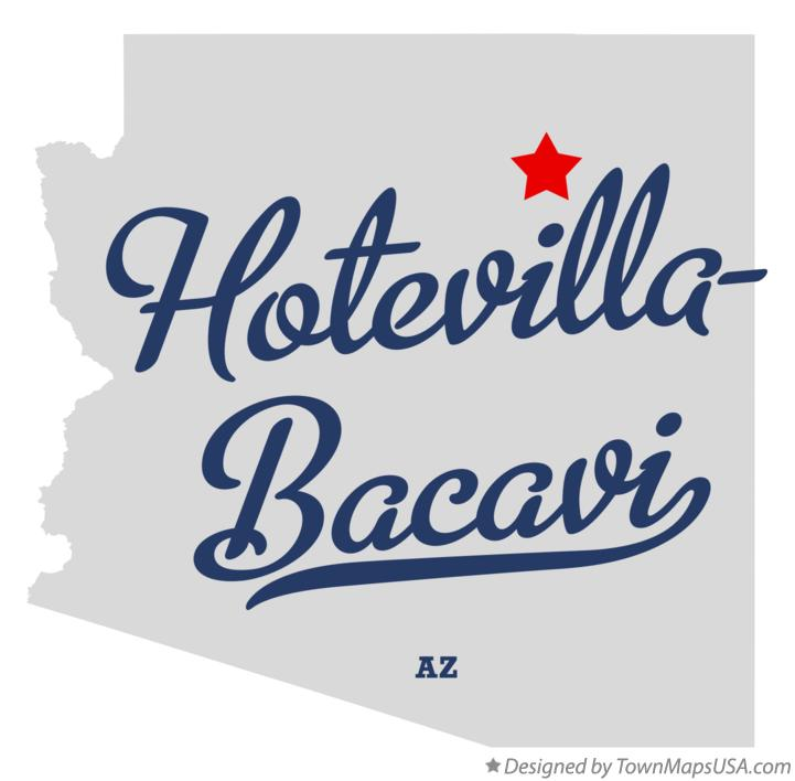 Map of Hotevilla-Bacavi Arizona AZ
