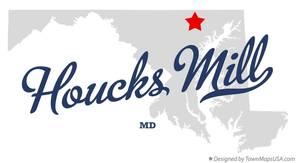 Map of Houcks Mill Maryland MD