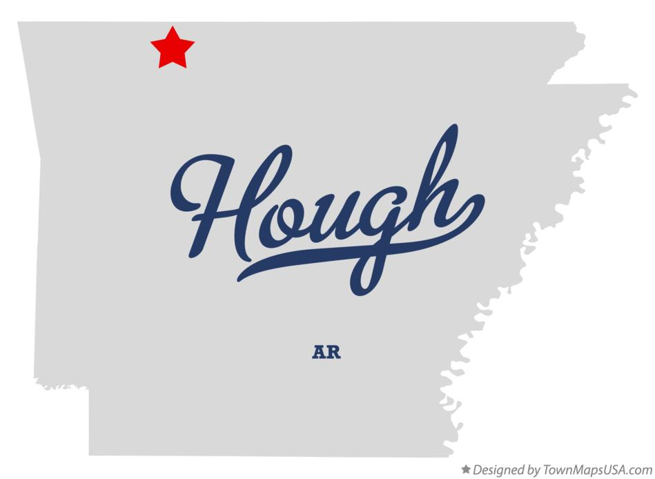 Map of Hough Arkansas AR