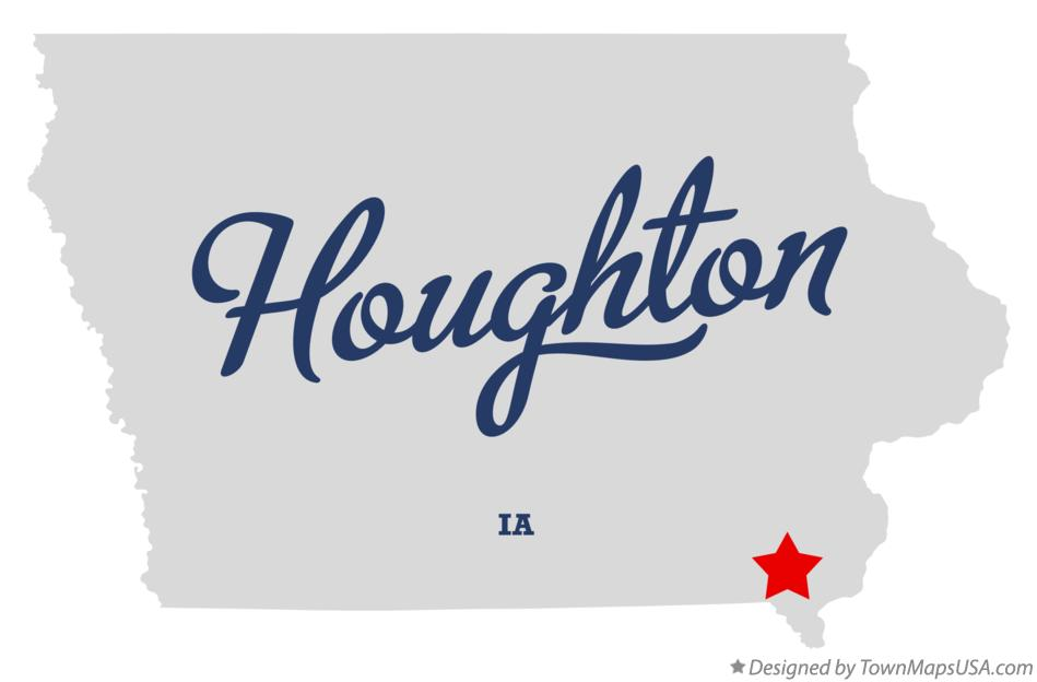 Map of Houghton Iowa IA