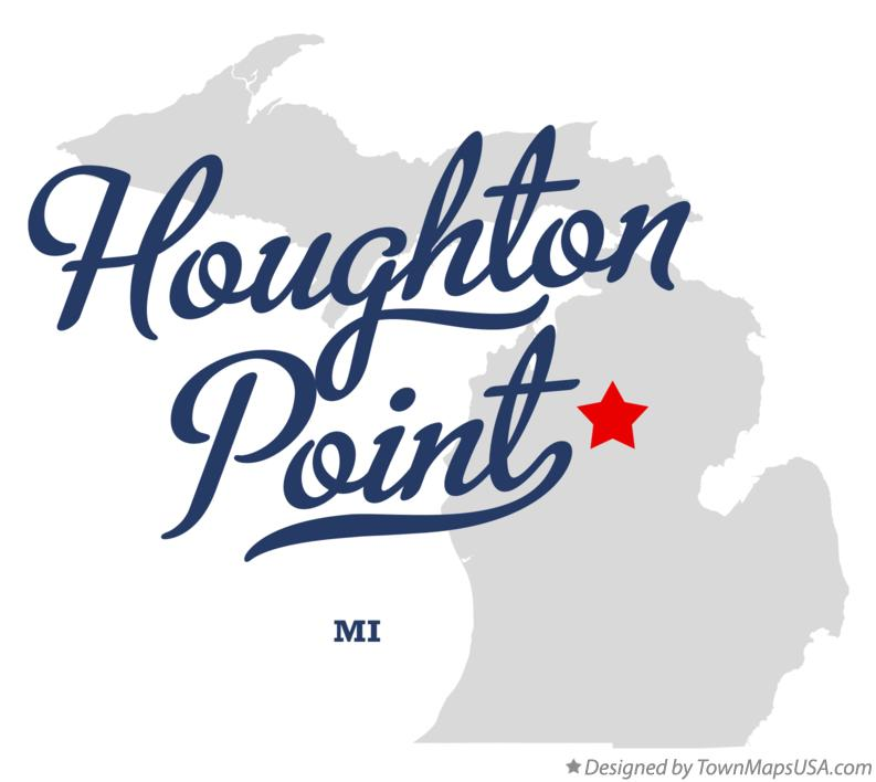 Map of Houghton Point Michigan MI