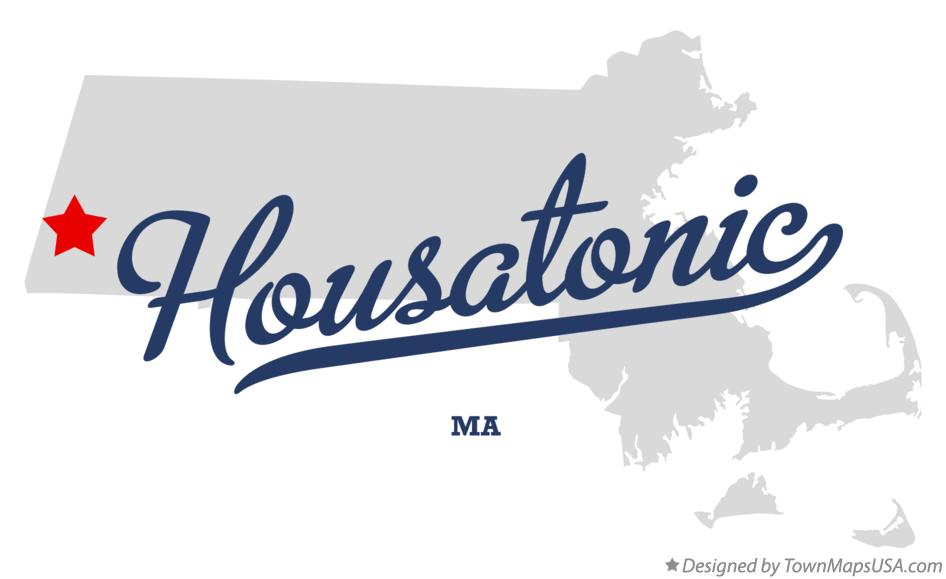 Map of Housatonic Massachusetts MA