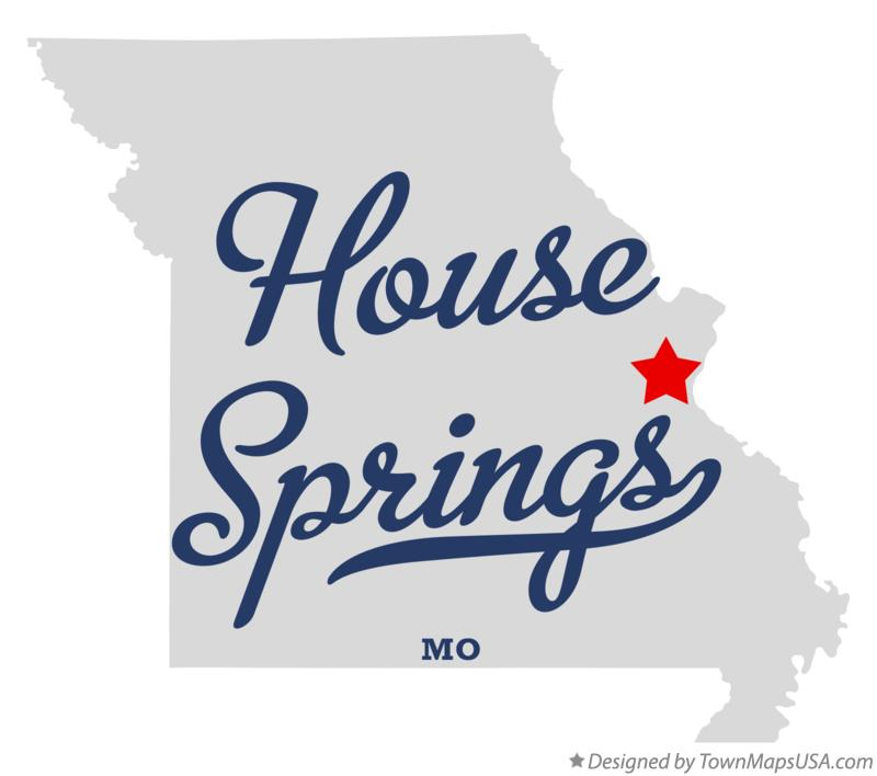 Map of House Springs Missouri MO