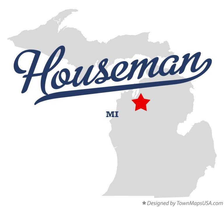 Map of Houseman Michigan MI