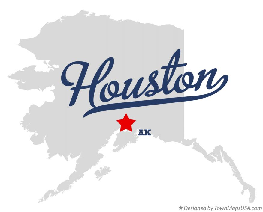 Map of Houston Alaska AK