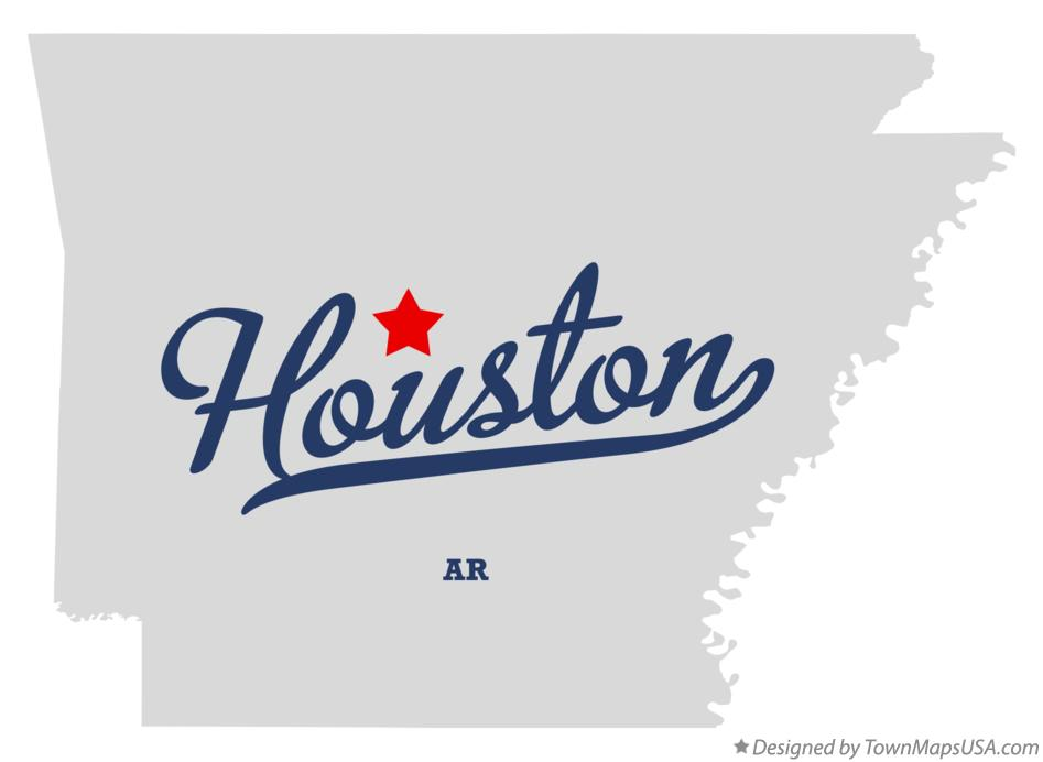 Map of Houston Arkansas AR