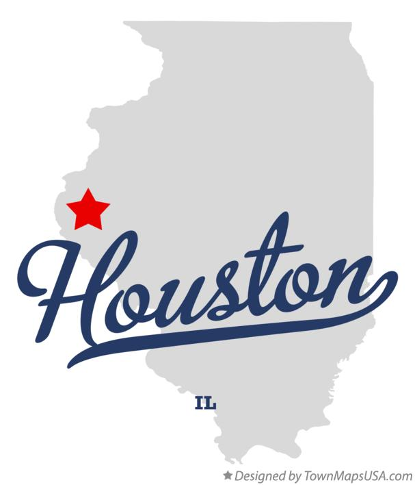 Map of Houston Illinois IL