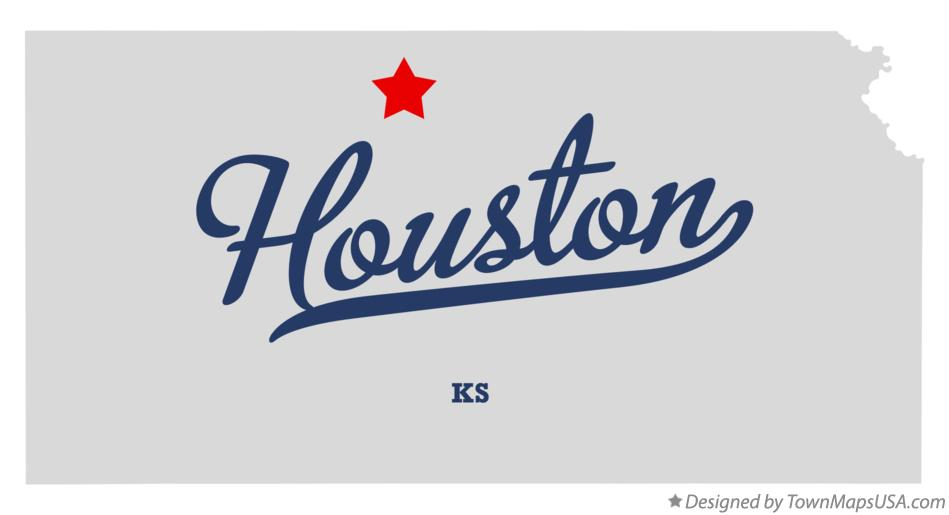 Map of Houston Kansas KS