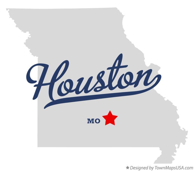Map Of Houston Mo Missouri
